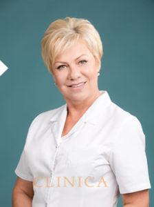 Õde - Jelena Modenova portree pilt arsti kitlis