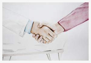 Clinica ilukirurg surub patsiendiga kätt